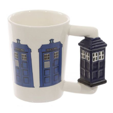 Police Box Handle Ceramic Mug with Decal
